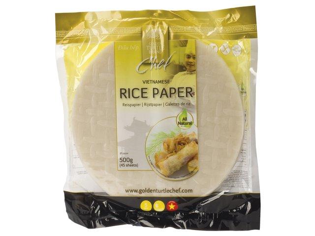 Feuilles de riz rondes - Golden Turtle Image