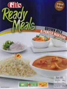 Paneer Makhani riz brun Image
